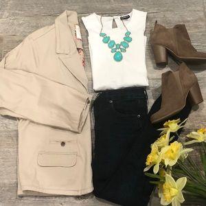 Sonoma Life+Style khaki blazer